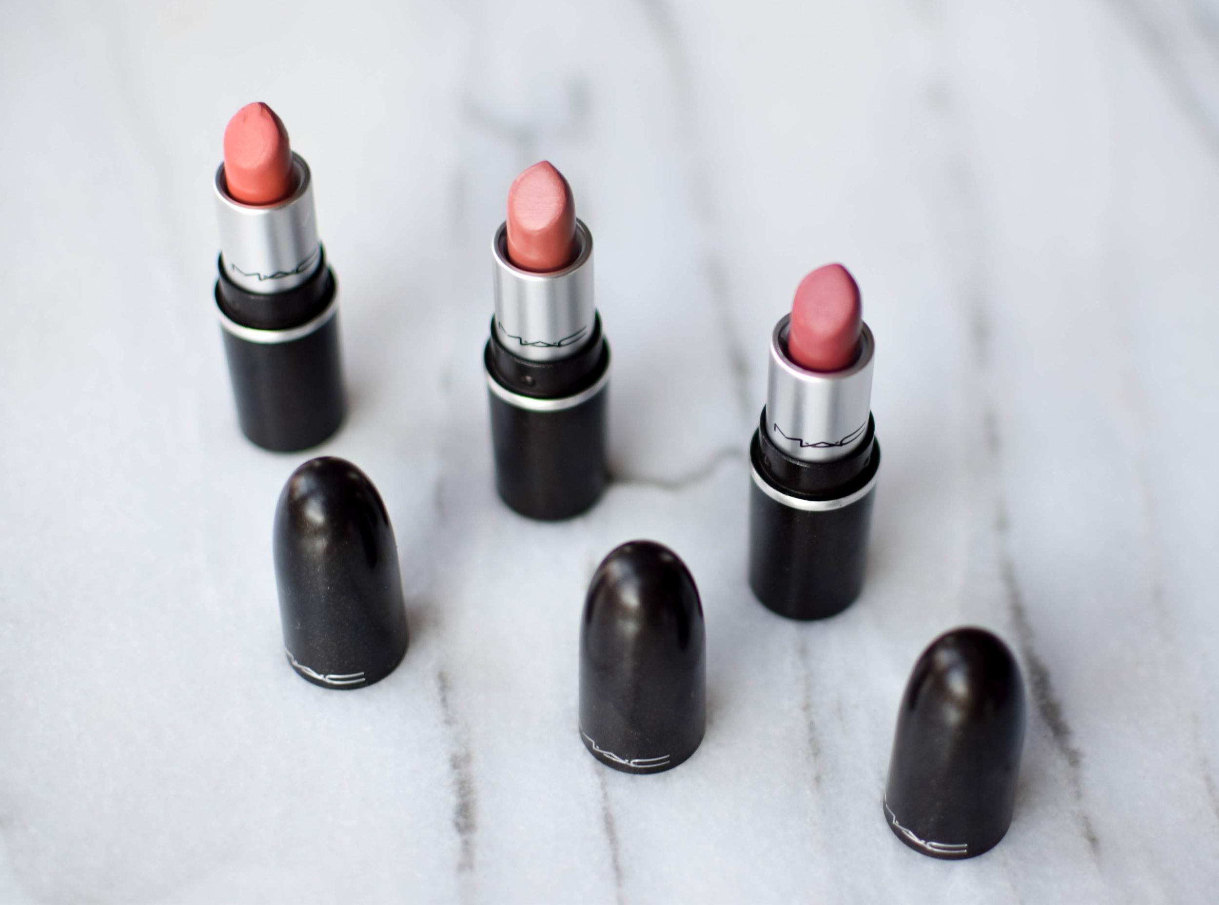 2017 Holiday Beauty Exclusives | Pine Barren Beauty | MAC Snow Ball Cool Mini Lipstick Kit, MAC lip kit, beauty product flat lay