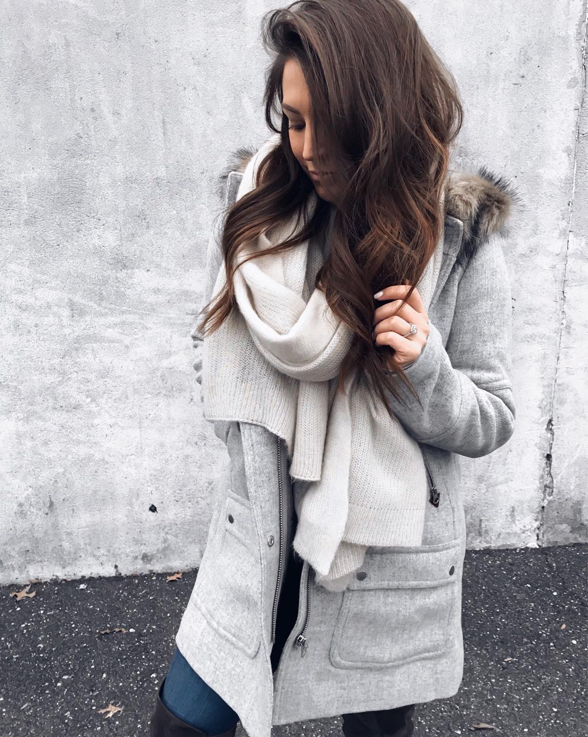 Weekend Sales & Instagram Round Up | Pine Barren Beauty | winter fashion, winter outfit idea, winter coat, jcrew coat, must have jcrew coat, free people scarf, winter essentials