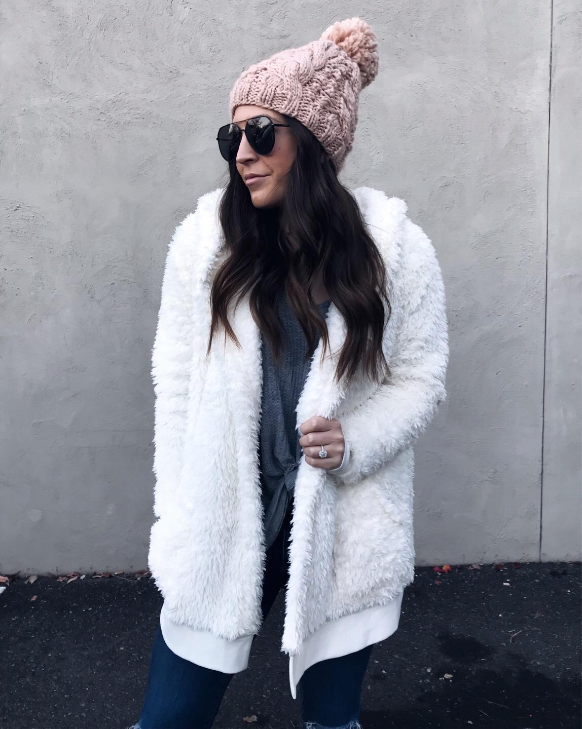 Weekend Sales & Instagram Round Up | Pine Barren Beauty | winter fashion, winter outfit idea, winter essentials, teddy coat, blush beanie, cozy outfit idea