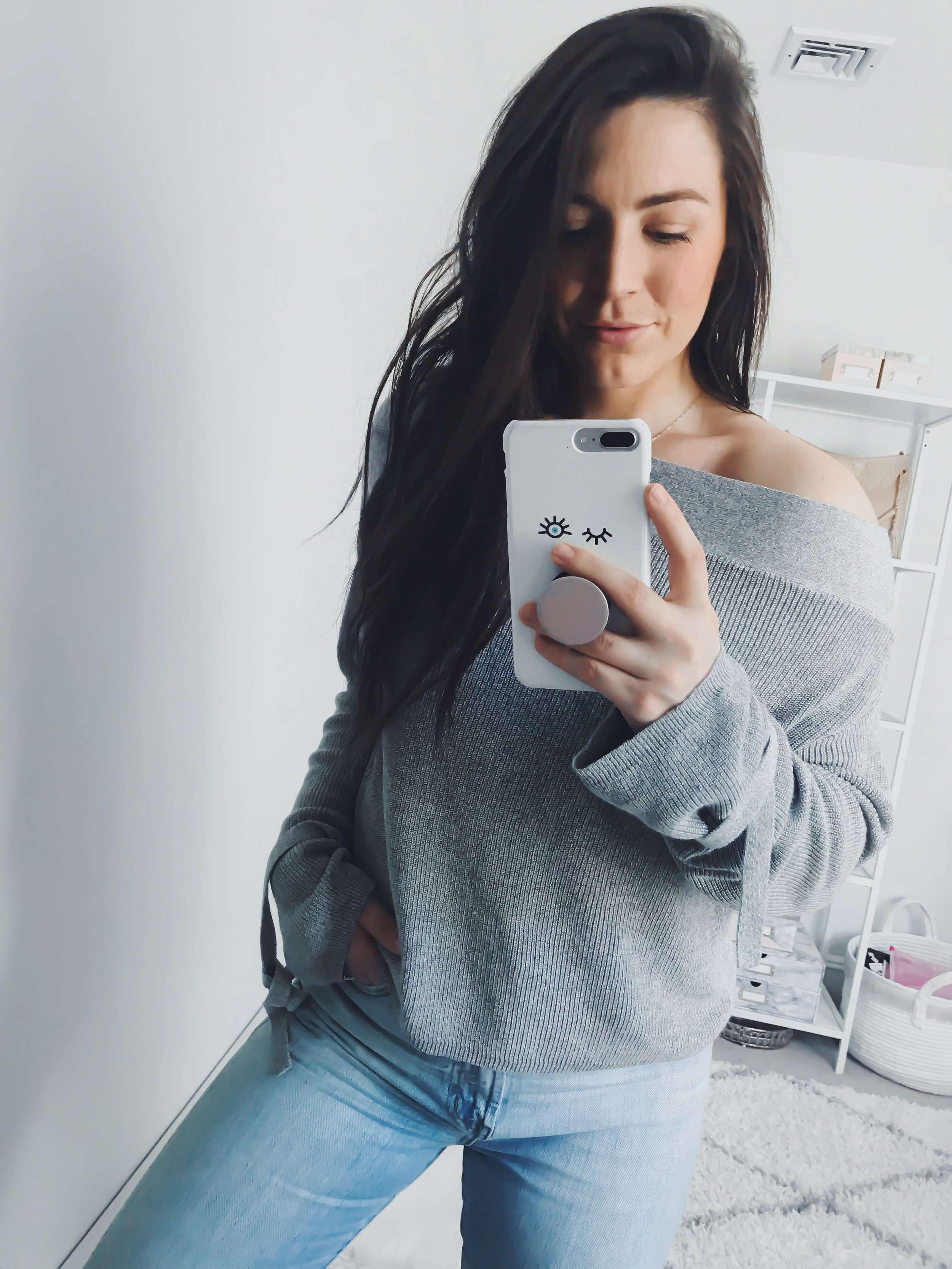 Instagram Round Up + Current Sales | Pine Barren Beauty | outfit of the day, outfit details, spring outfit, off the shoulder sweater, madewell denim