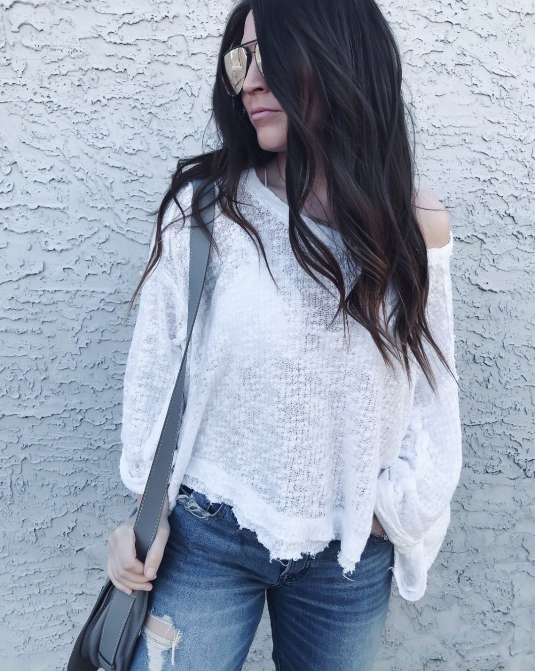 Instagram Round Up + Current Sales | Pine Barren Beauty | outfit of the day, outfit details, spring outfit, slouchy tee, white tee, distressed denim