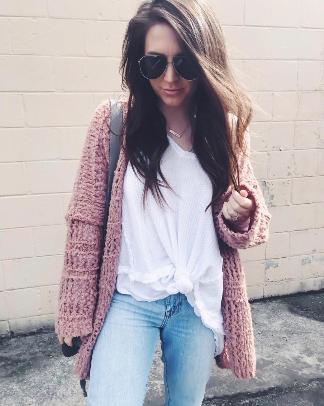 Instagram Round Up + Current Sales | Pine Barren Beauty | outfit of the day, outfit details, spring outfit, free people thermal + cardigan, madewell denim