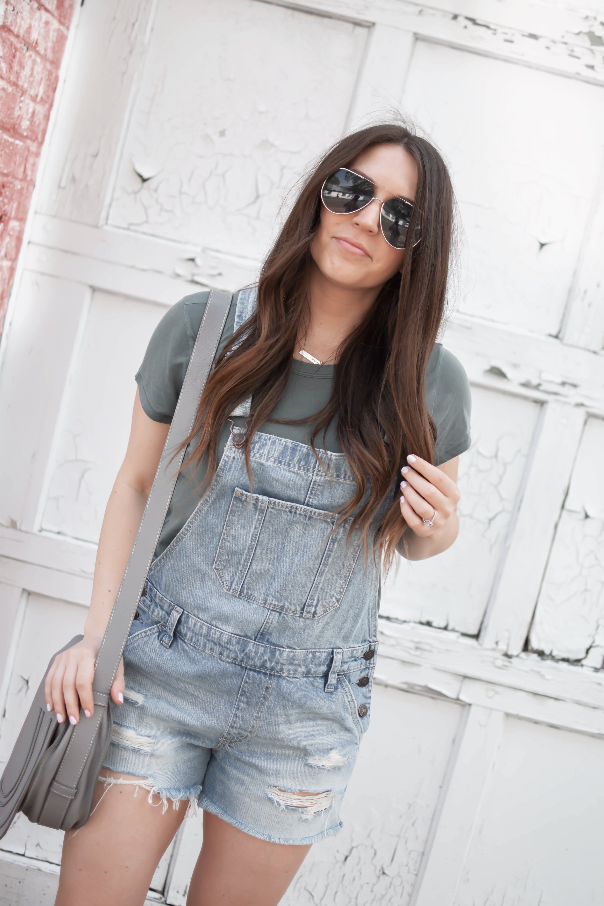 How to Style Overalls   Pine Barren Beauty   how to wear overalls, Abercrombie overalls, basic tee, Vince slip ons, summer outfit idea, summer outfit inspiration