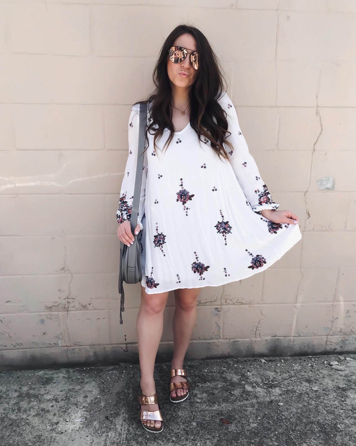 Instagram Round Up | Pine Barren Beauty | free people dress, summer dress, rose gold Birkenstocks, summer outfit