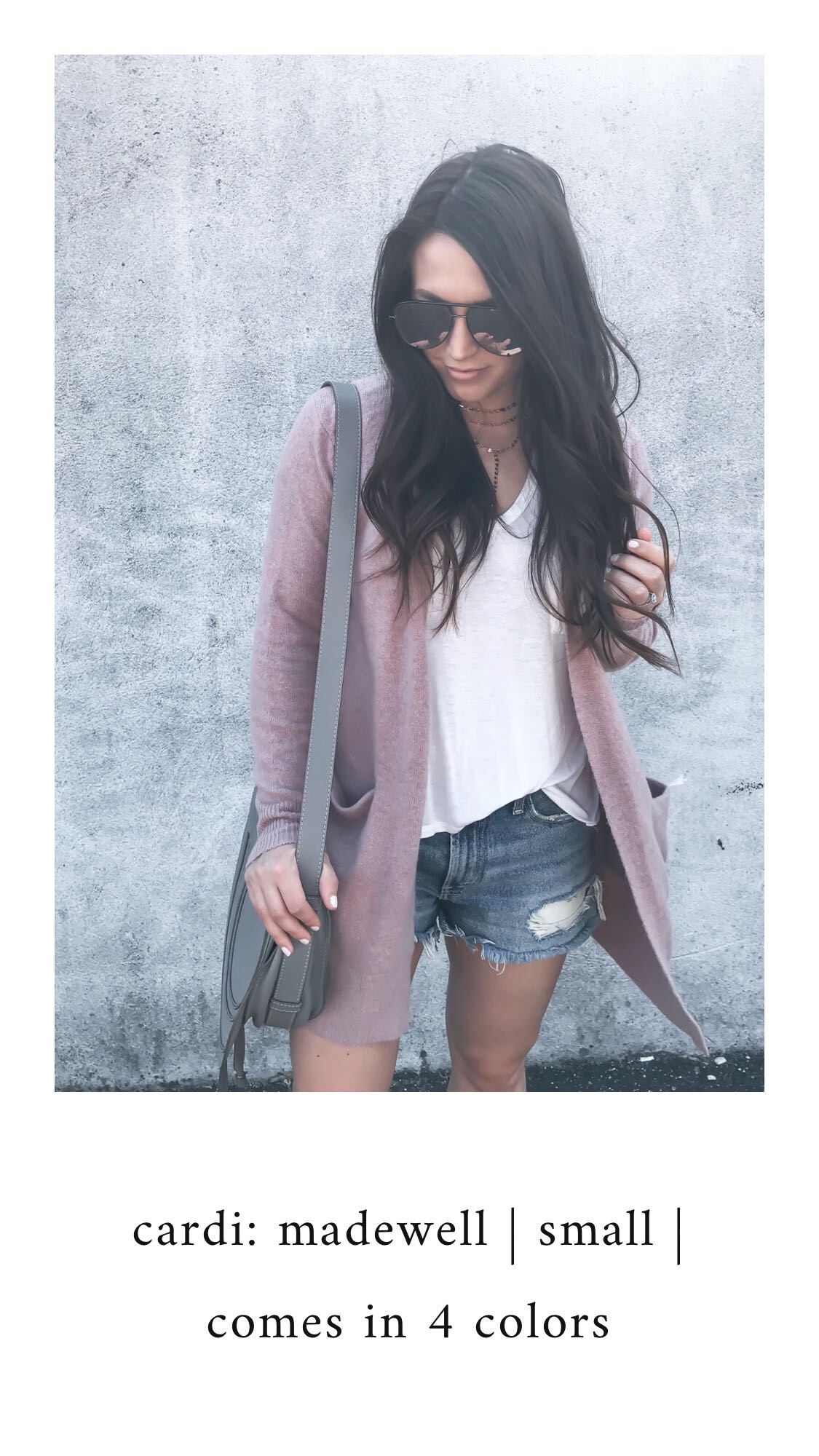 Nordstrom Anniversary Sale 2018: What I Purchased | Pine Barren Beauty | madewell cardi, basic white tee, denim cutoffs, fall transition outfit idea