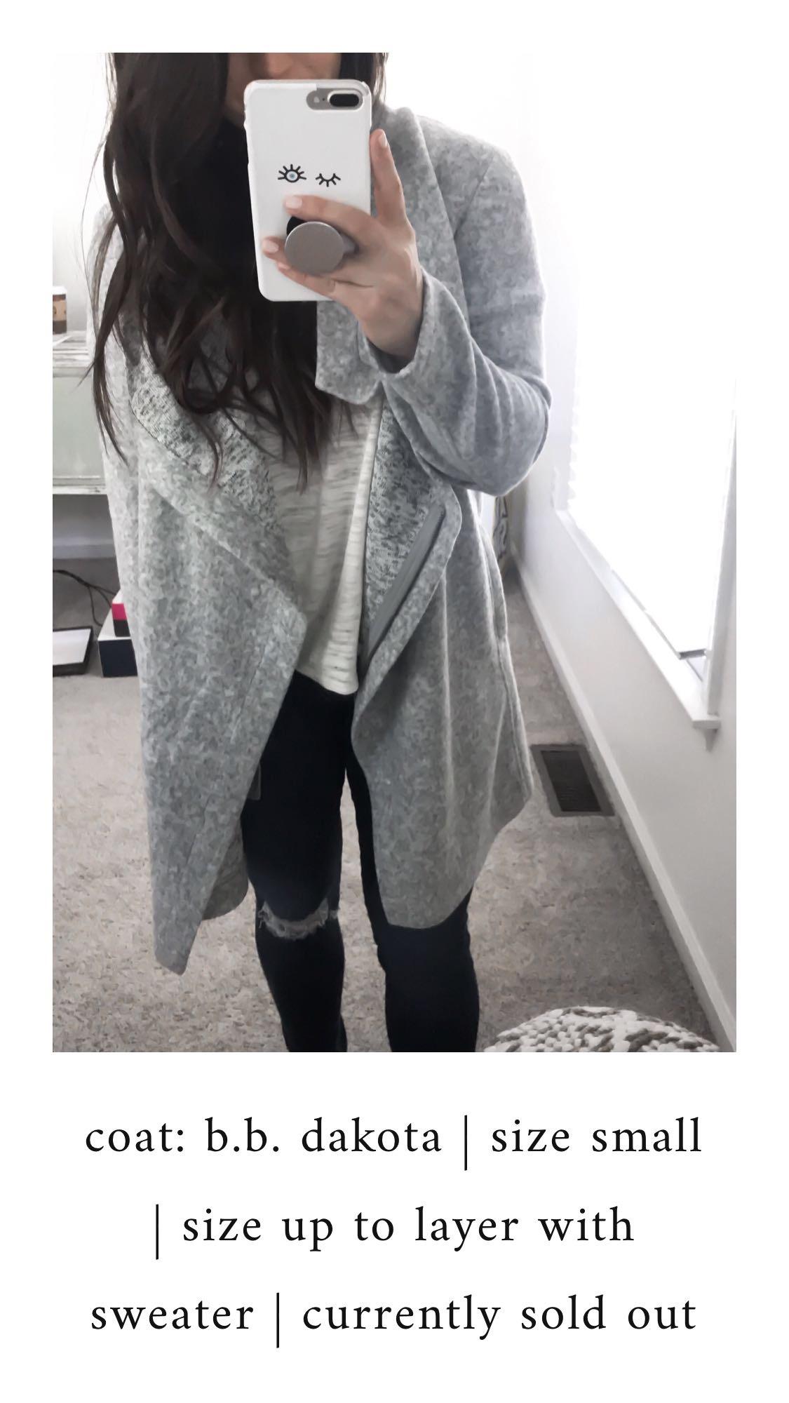 Nordstrom Anniversary Sale 2018: What I Purchased | Pine Barren Beauty | bb Dakota light weight jacket, grey jacket, fall jacket