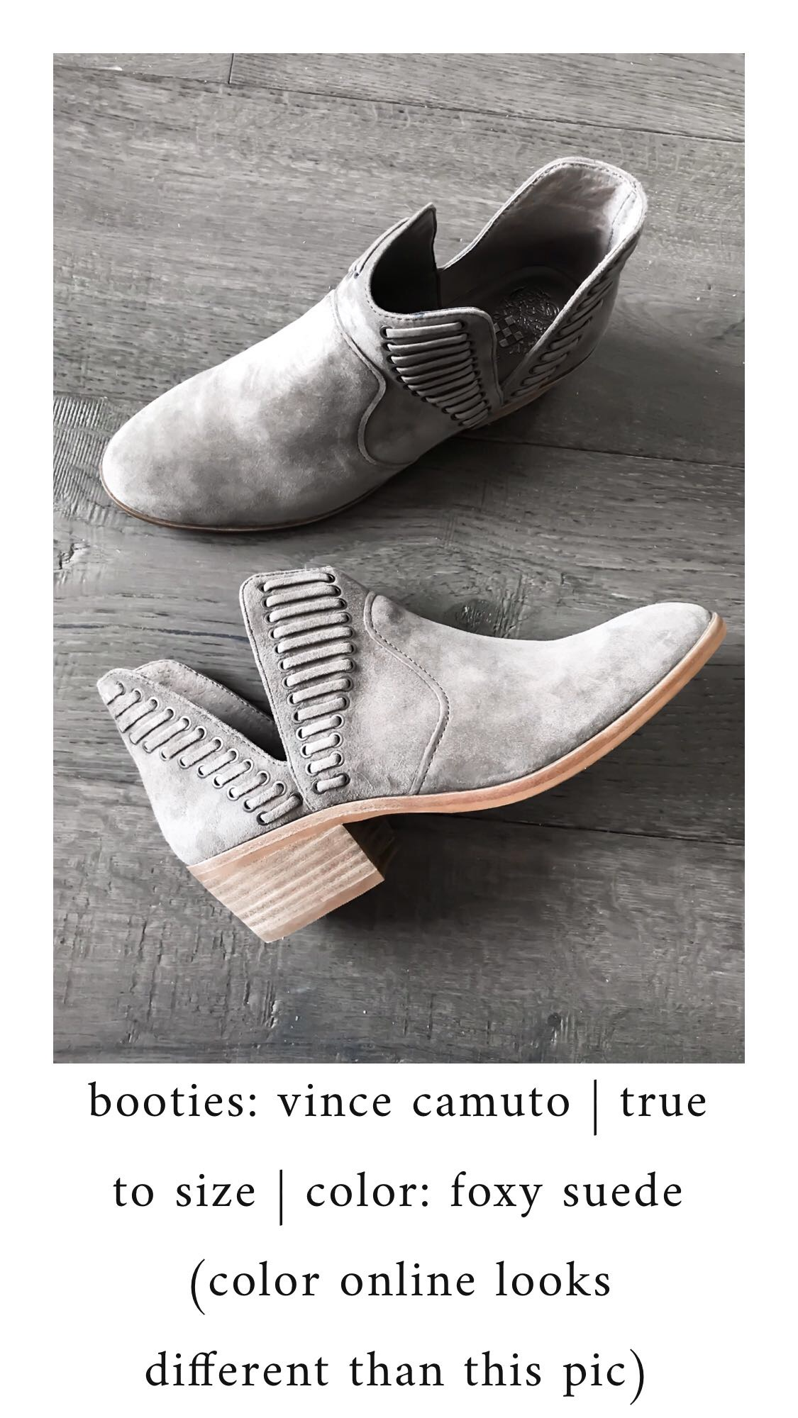 Nordstrom Anniversary Sale 2018: What I Purchased | Pine Barren Beauty | Vince camuto booties, cutout booties, suede booties, fall shoes
