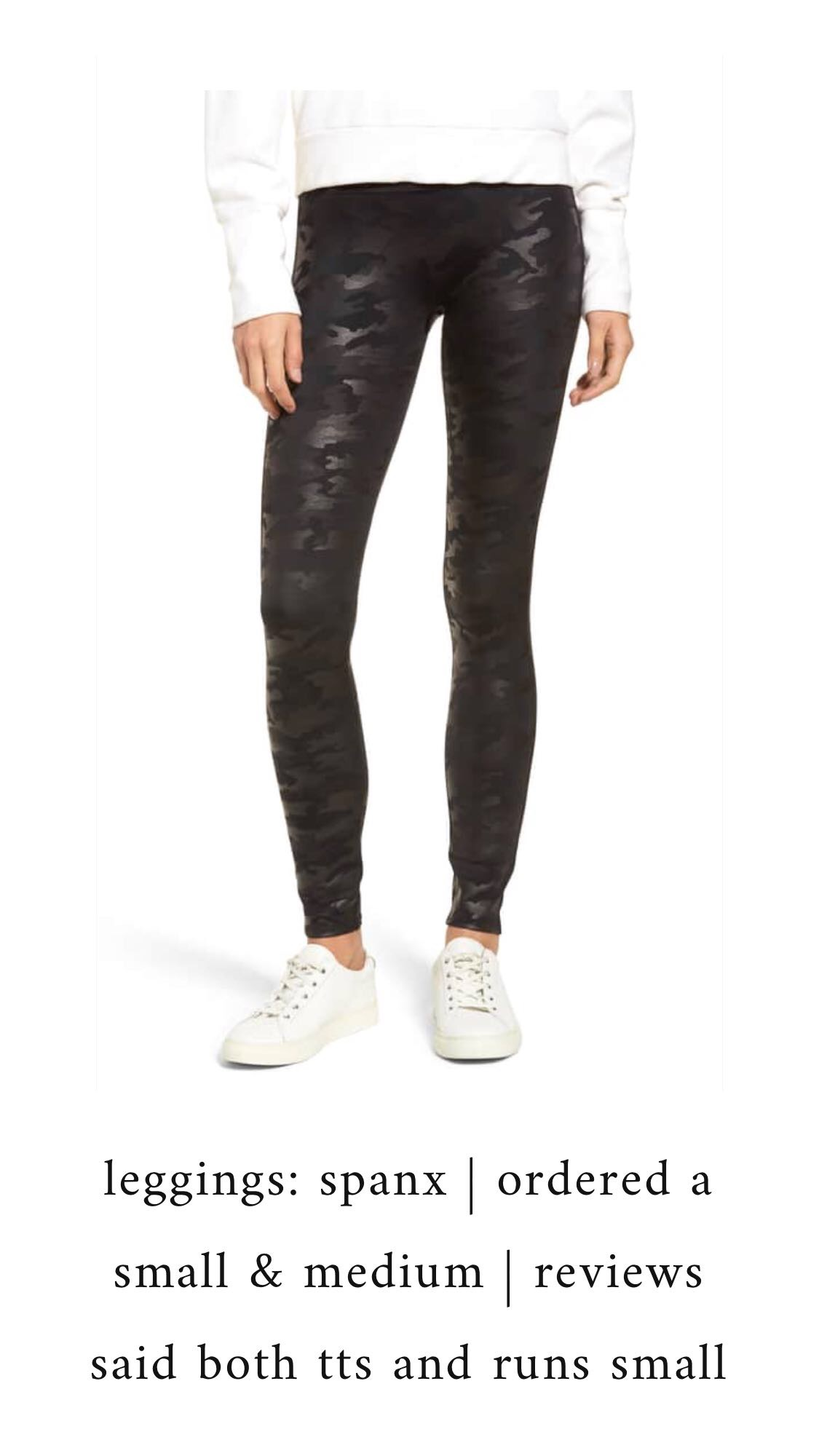 Nordstrom Anniversary Sale 2018: What I Purchased | Pine Barren Beauty | Spanx camo faux leather leggings, camo leggings
