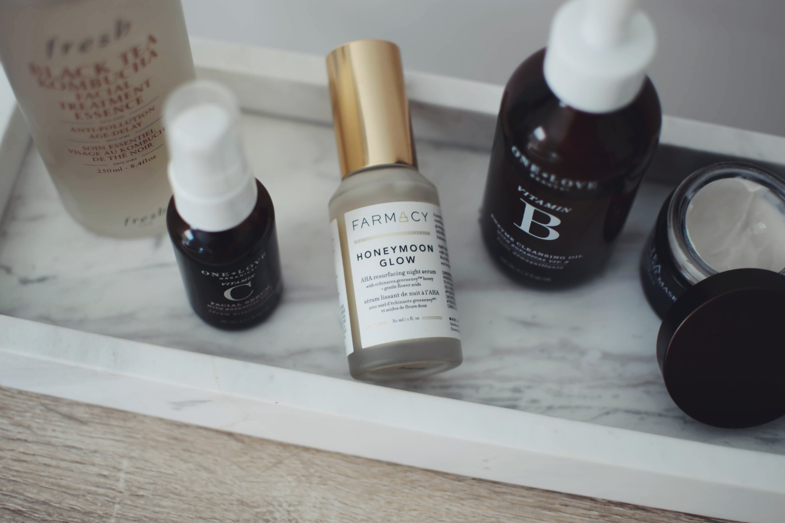 Current Skin Care Products I'm Loving | Pine Barren Beauty | night time skin care routine, skin care routine, fresh beauty, farmacy beauty, one love organics