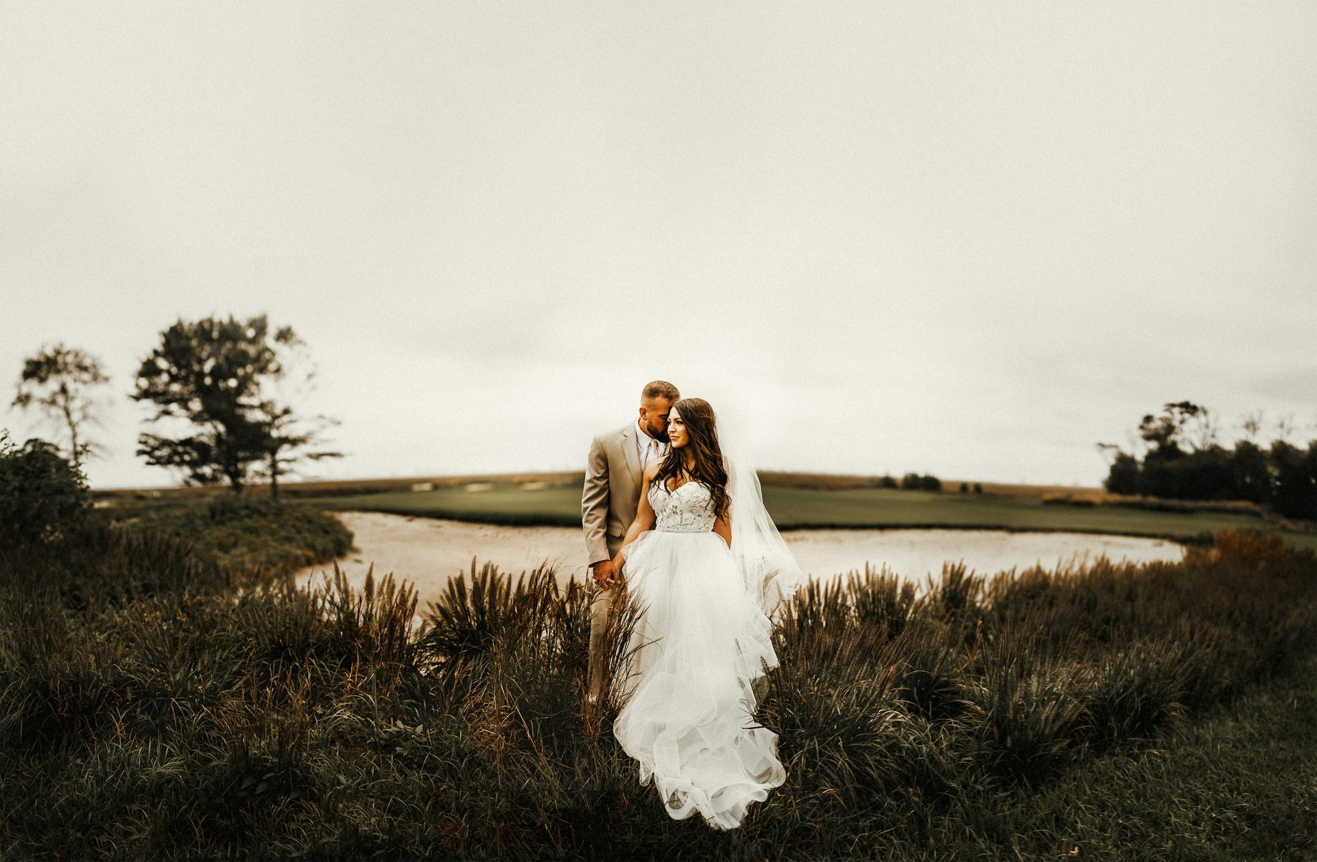 All of our Wedding Vendors: Reviewed | Pine Barren Beauty | wedding photos, wedding photography, wedding photography ideas, bride and groom portraits, blush by Hayley Paige wedding dress, Atlantic City country club, wedding portraits, twisted oaks studio