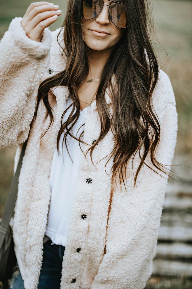 5 Teddy Coats Under $100 | Pine Barren Beauty | winter coat, teddy coat, winter fashion, winter outfit idea