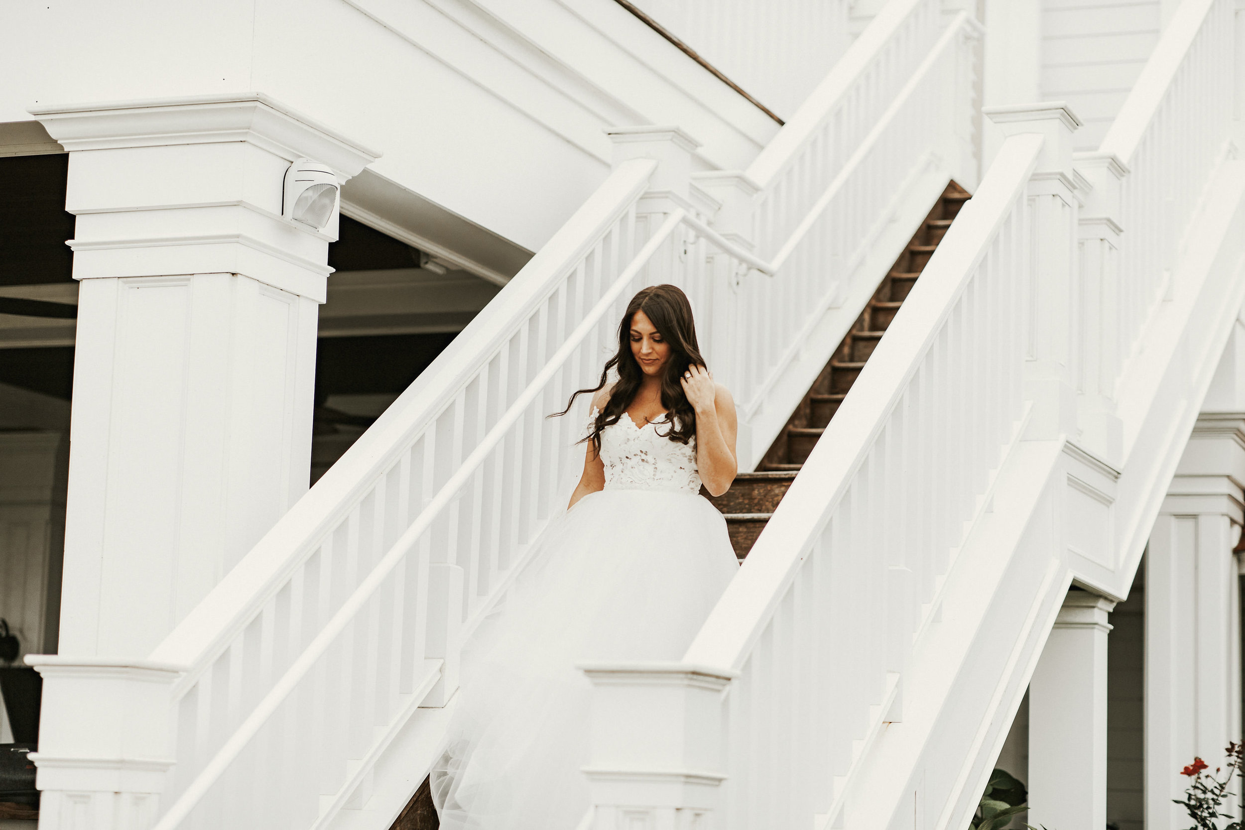 I remember walking down these steps thinking about how windy it was and how I didn't want my hair to be messed up for the photos LOL