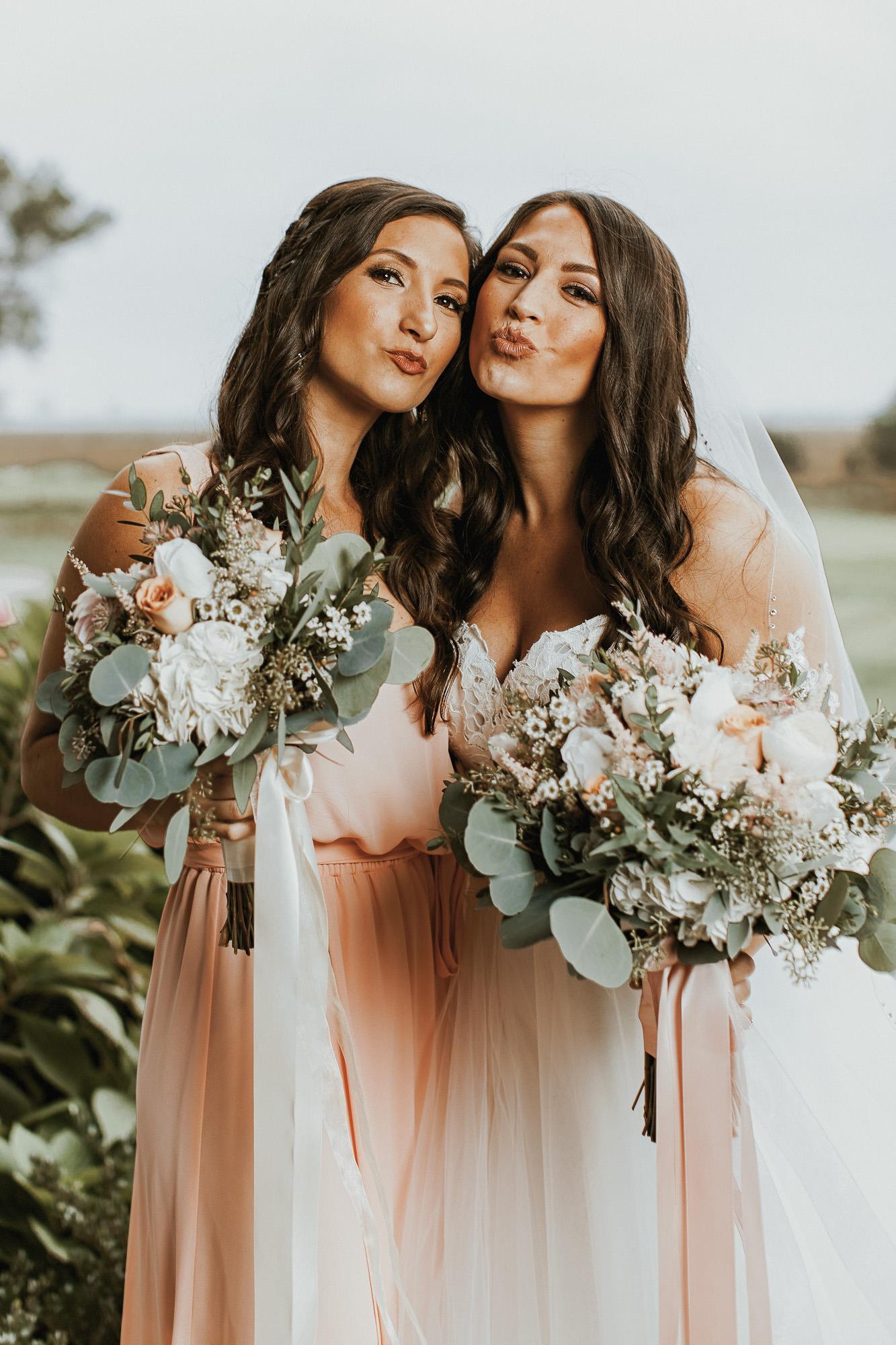 Our Wedding Photos | Pine Barren Beauty | wedding photo inspiration, bridal party colors, blush bridesmaids dresses, bridal party photos