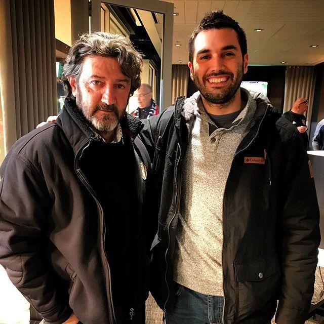 Acá en Chicago haciendo nuevas amistades con Jose Maria Bakero, un crack del fútbol y un lujo de persona. Gracias por la intro, @enriquedcortina!