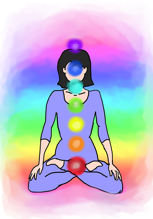 Chakras are wheels of light. Chakra 1 is red and the numbers go up with each color.