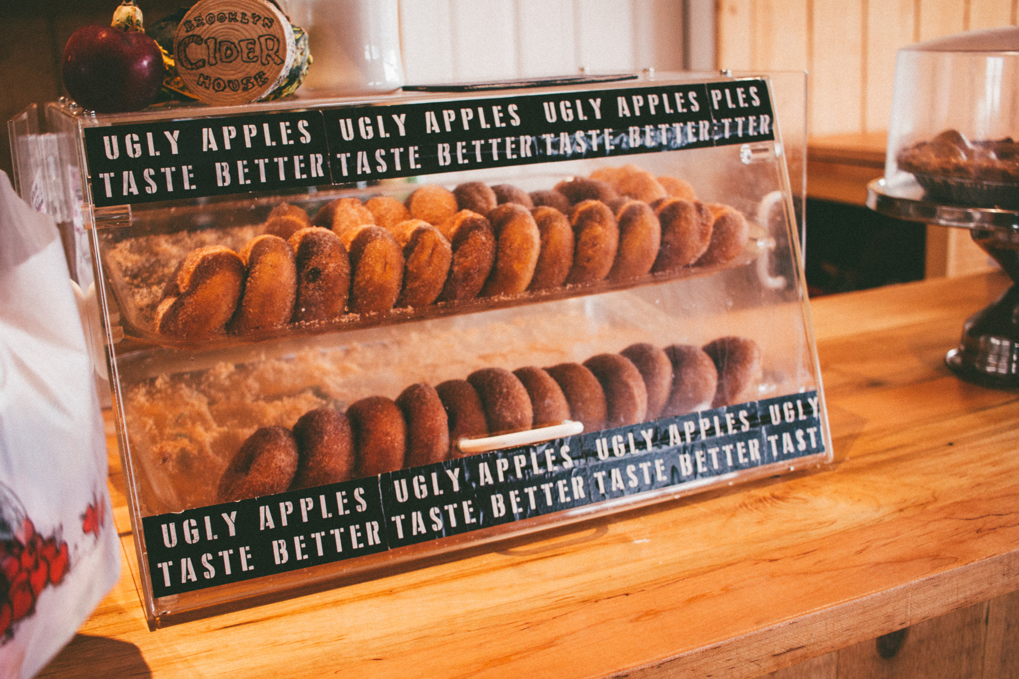 Take a look at those fresh apple cider donuts!