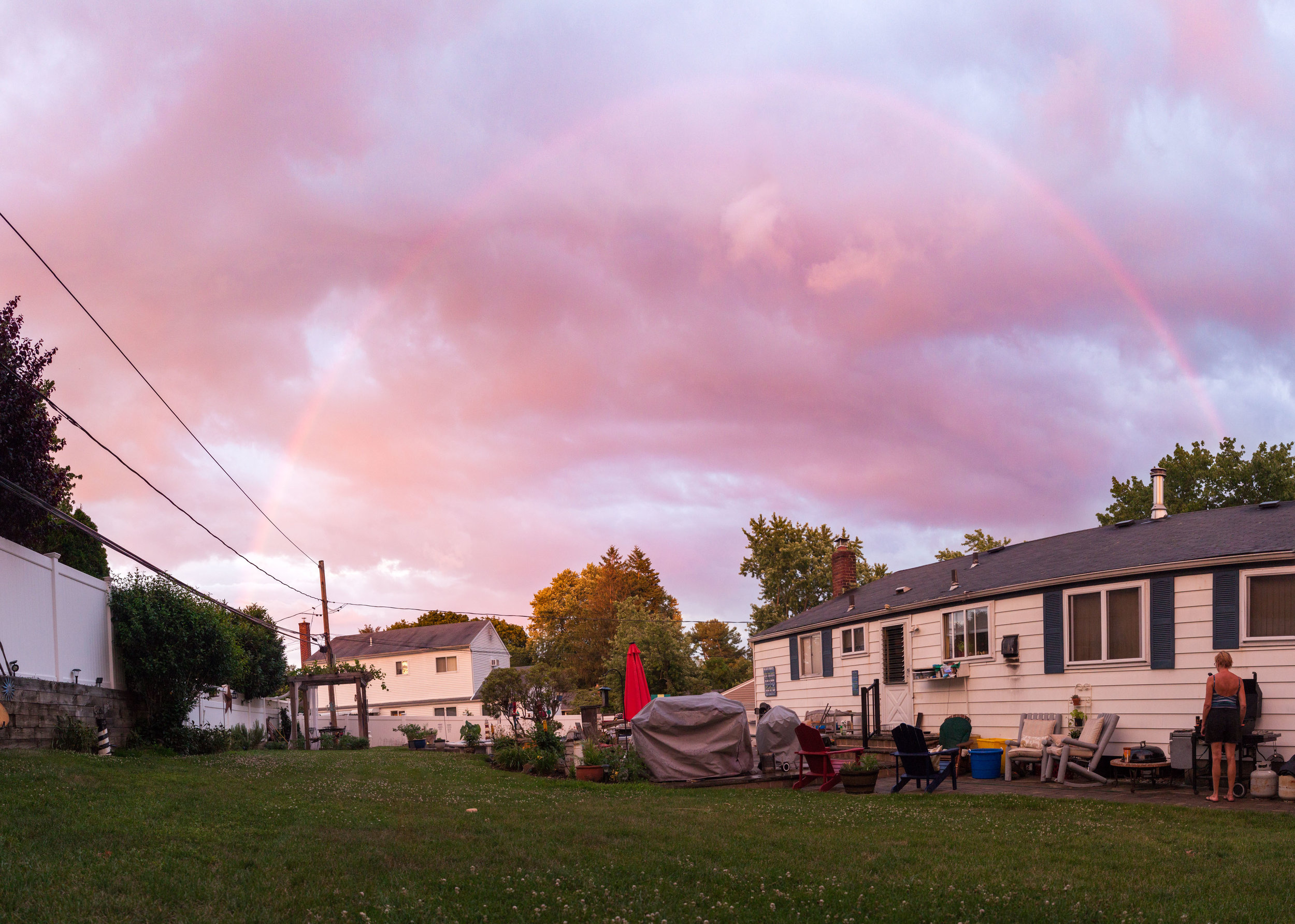 Look at this rainbow over my backyard!