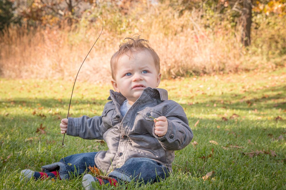 One Year Baby Boy Grant Woods Forest Preserve