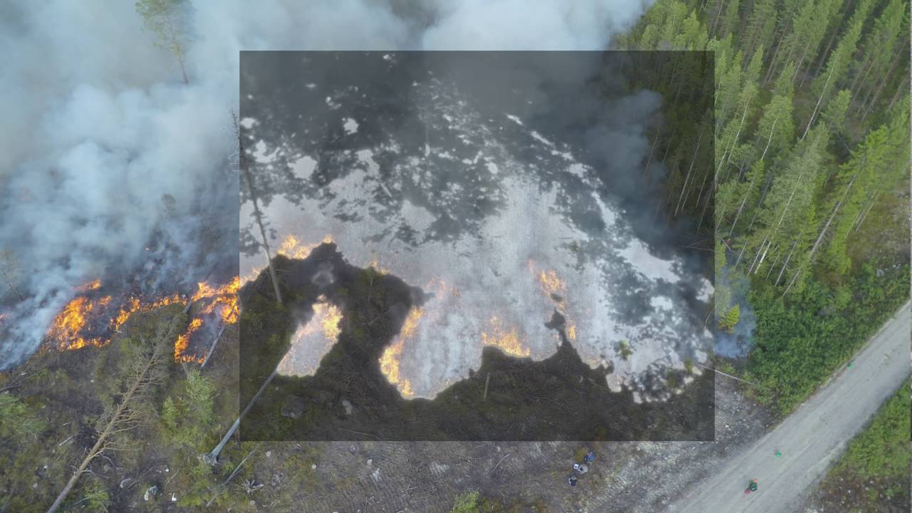 Infrared cameras and integrated sensors can help see through smoke and give precise activity locations to Commanders on the ground.