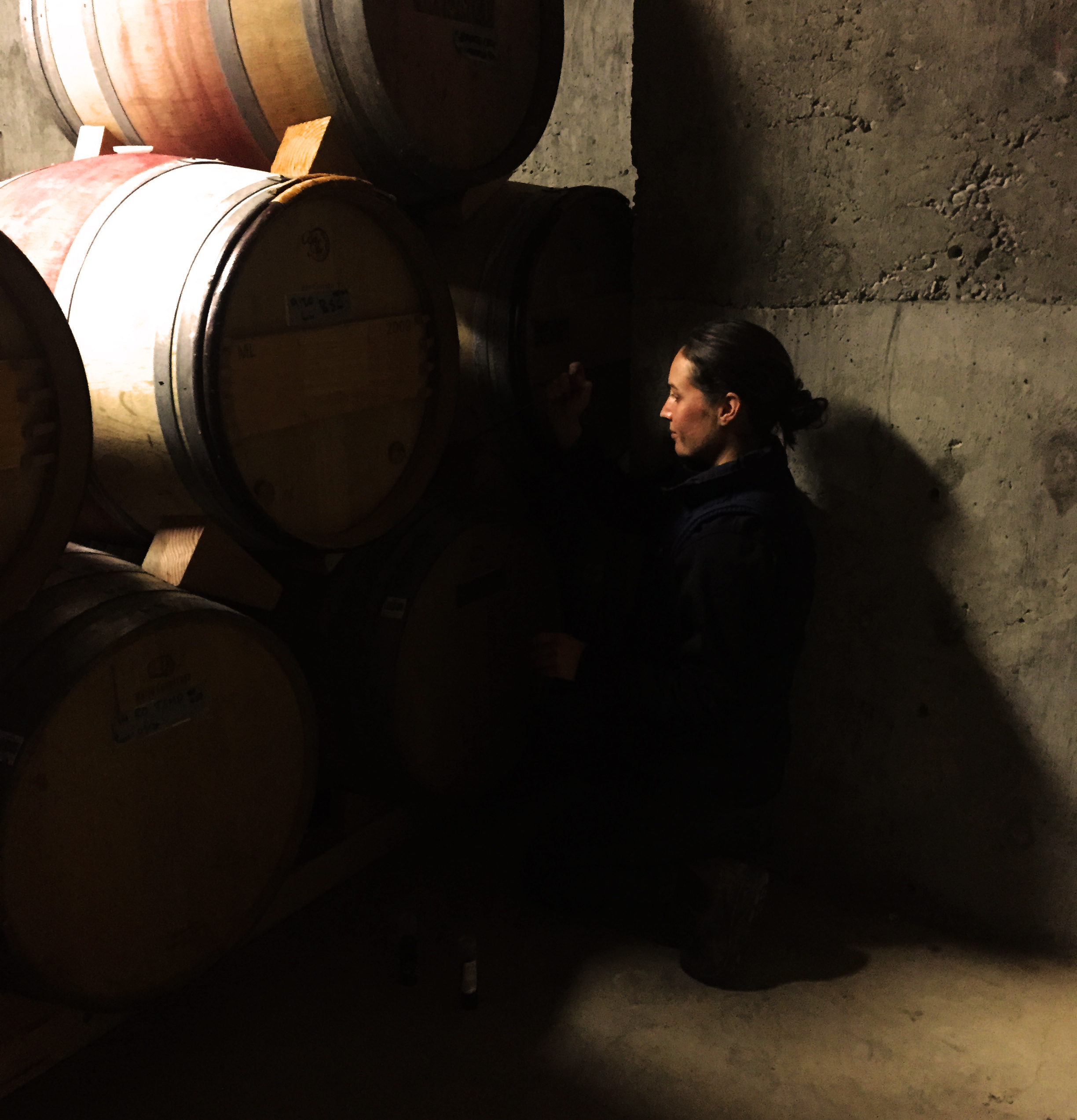 Martha sampling barrels 2015.jpg