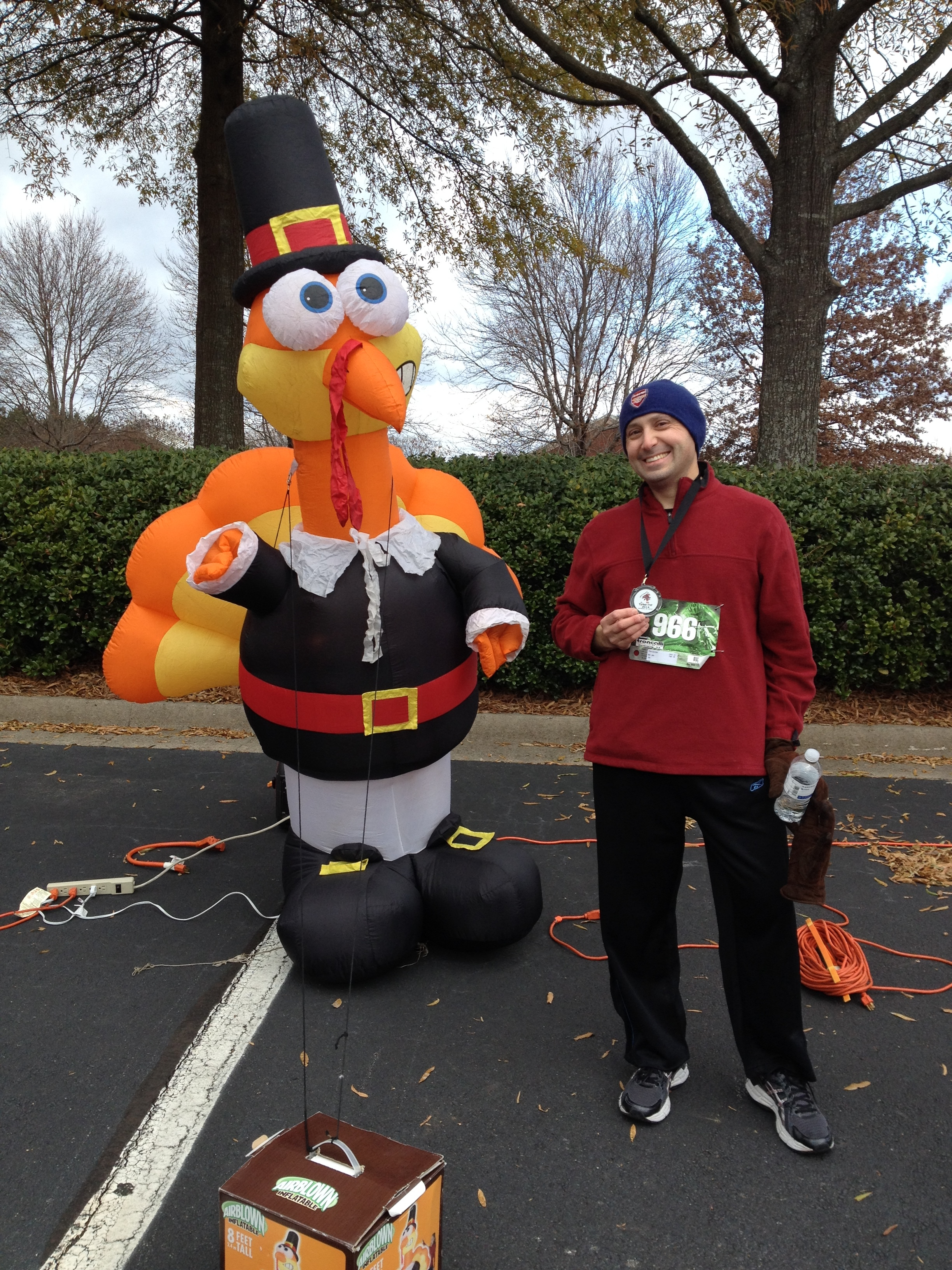 Turkey Troy and Me! (I'm the one wearing the medal.)
