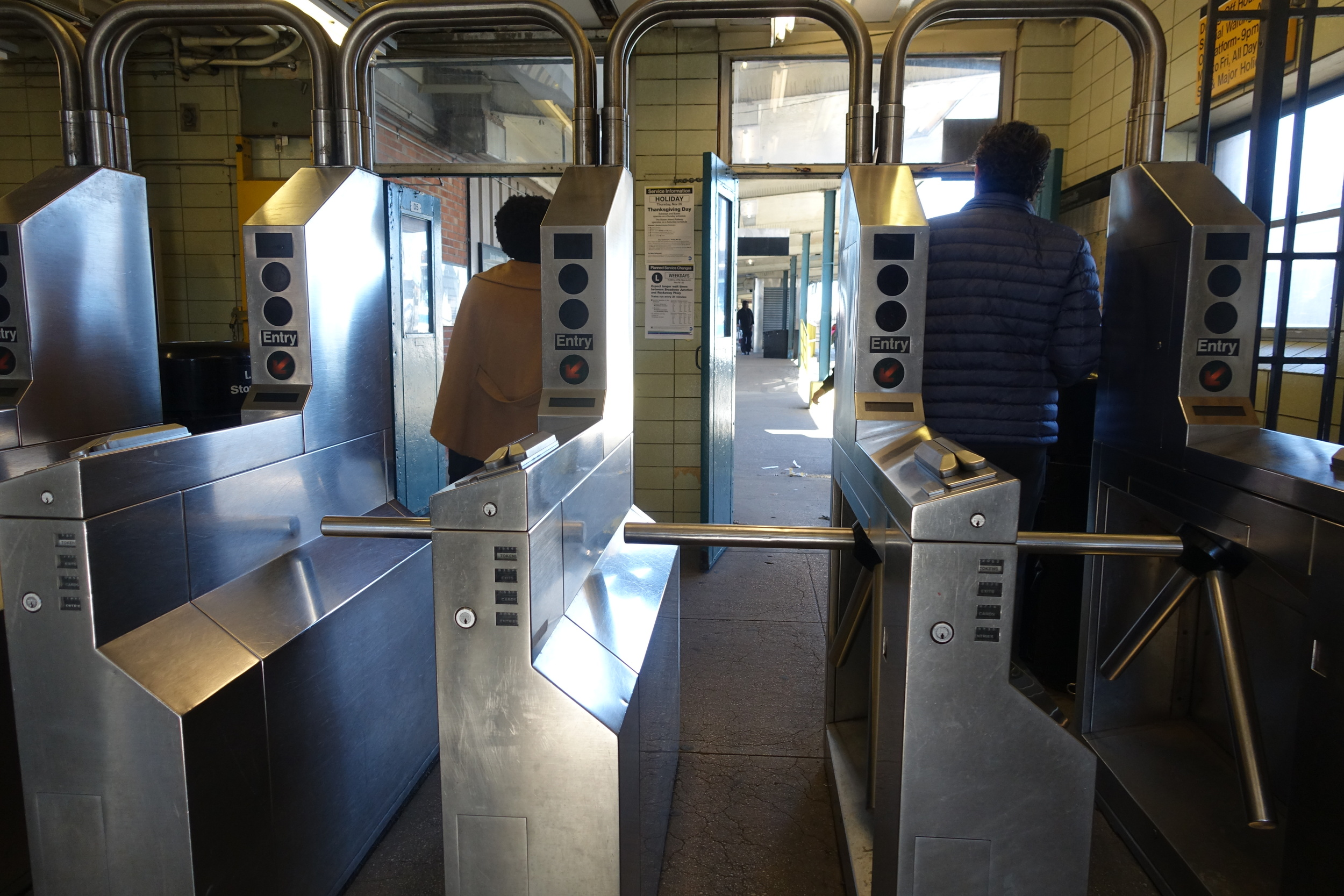 A 35-minute train ride from Union Square dropped us off in the middle of a deep-Brooklyn commercial intersection amongst the hustle-bustle of Friday morning commuters.