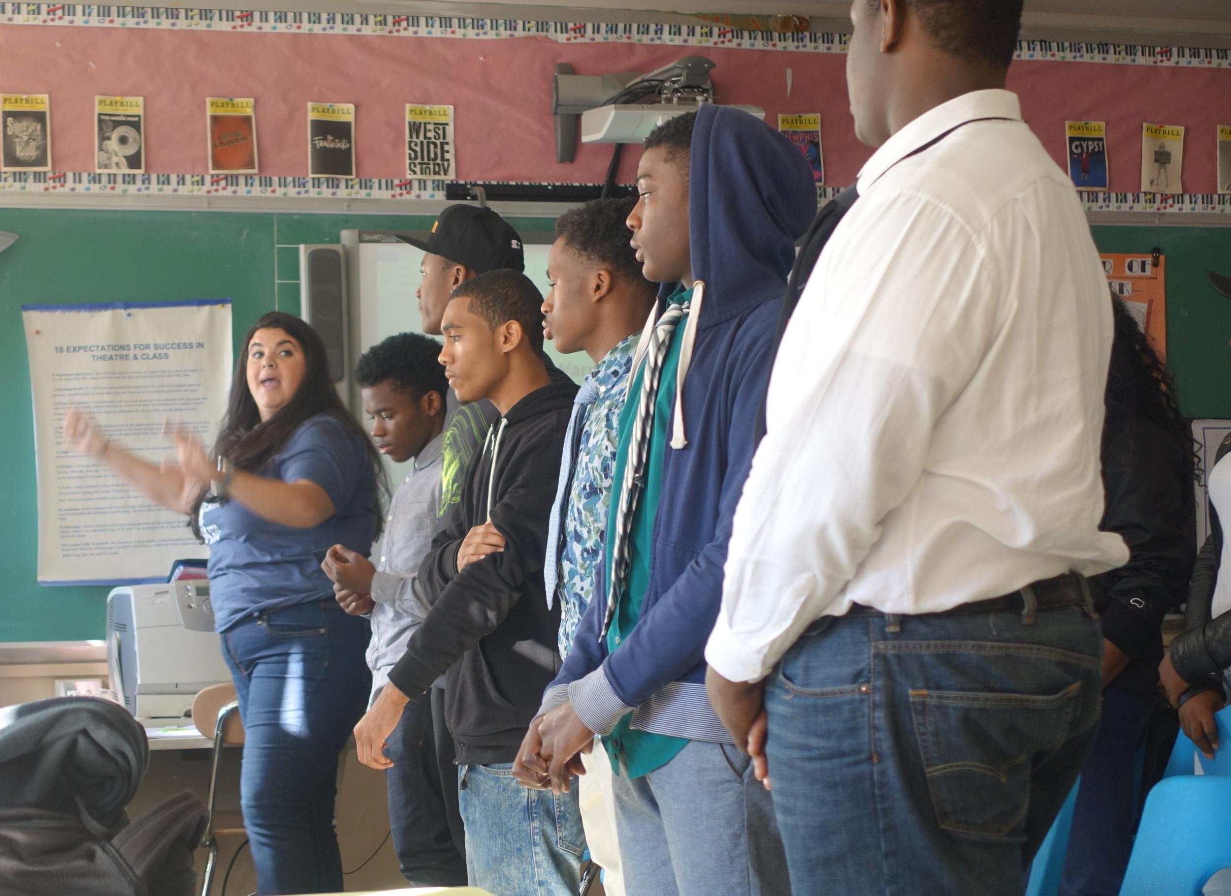 Students rehearse in Miss Julia's Show Choir class.