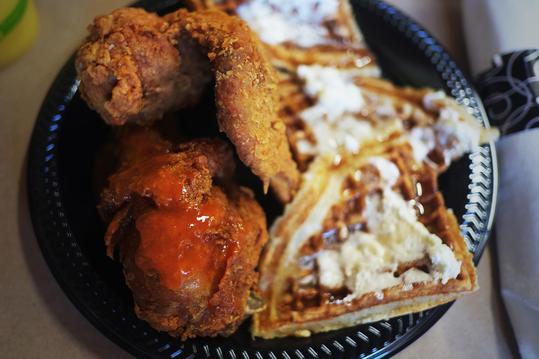Chicken and Waffles from Kuzzo's