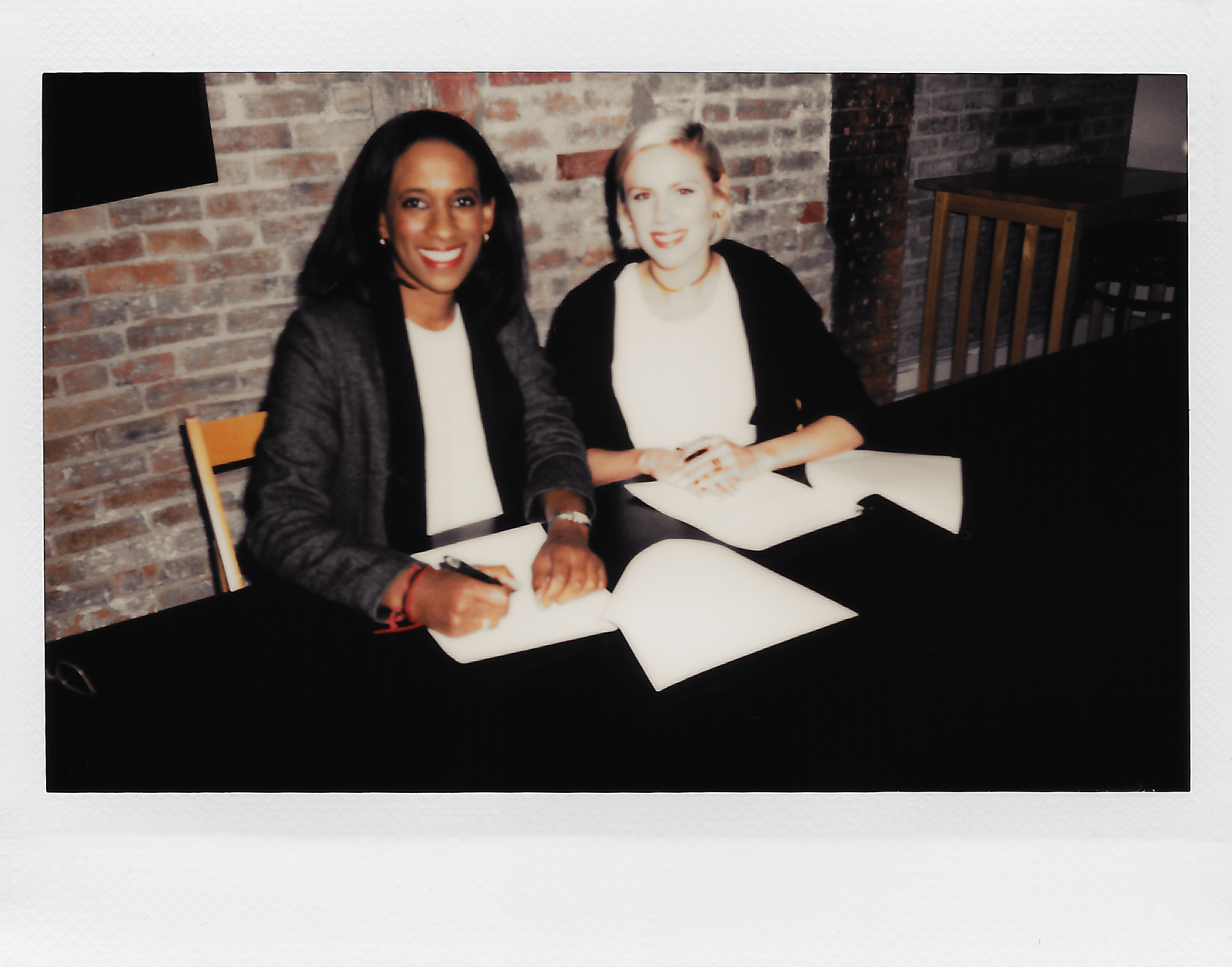 Binta with Big Mouth Records' first artist, Grace Weber