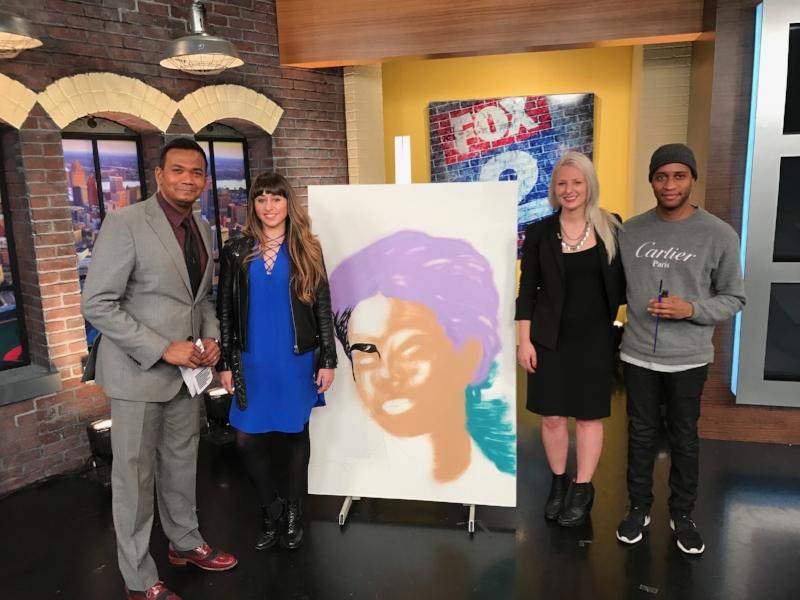 Sam and Paulina talkin art on Fox