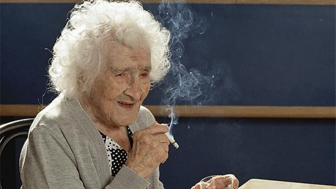 Jeanne Calment, the oldest living human in history