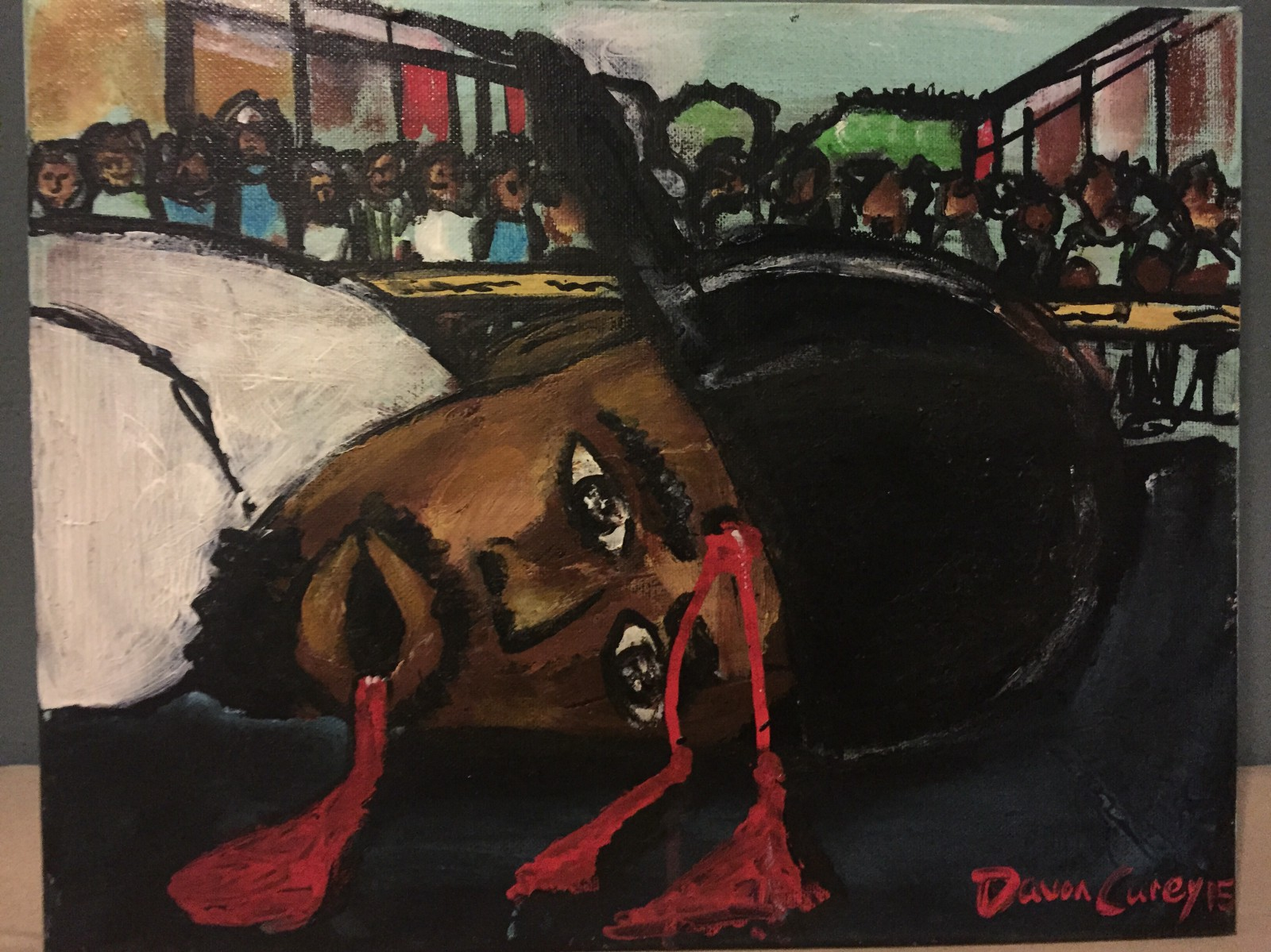 Painting by @davoncarey (Click link. watch video) https://www.youtube.com/watch?v=KJ8q4wpqv2I