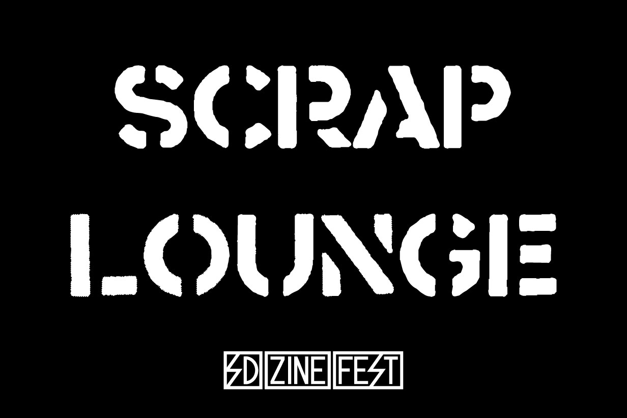 The Scrap Lounge is an open zine making area. All ages and skill levels are welcome. -