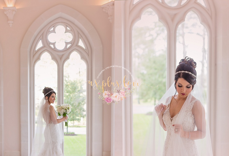 the woodlands, bride, bridal, photography, veil, florals, venue, chateau cocomar