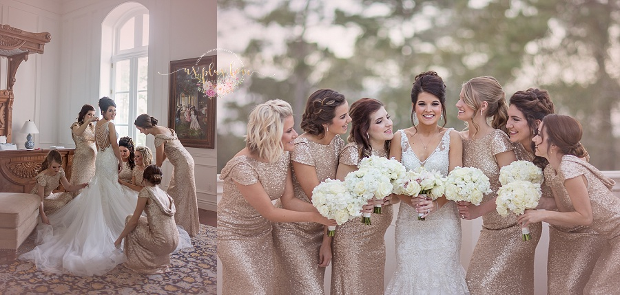 sequin-gown-bridesmaids-dressing-bride-portrait-houston-chateau.jpg