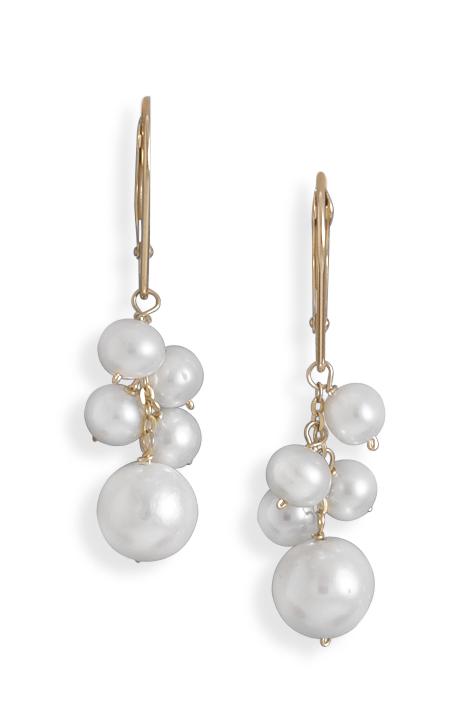 Fun freshwater pearl earrings