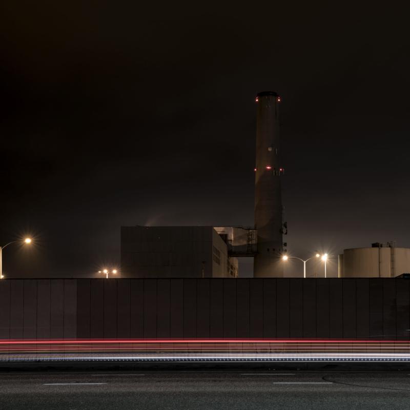 Encina Power Station (Light Streak Variation I)