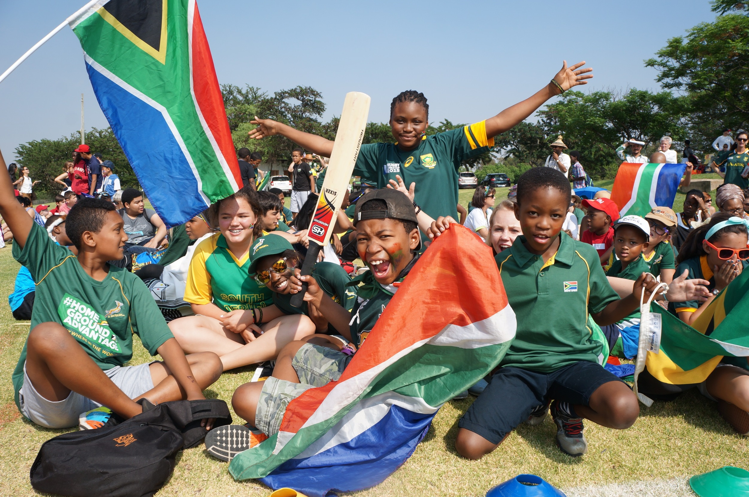 International Day at the American International School of Johannesburg. Hope, for a future of cheering.