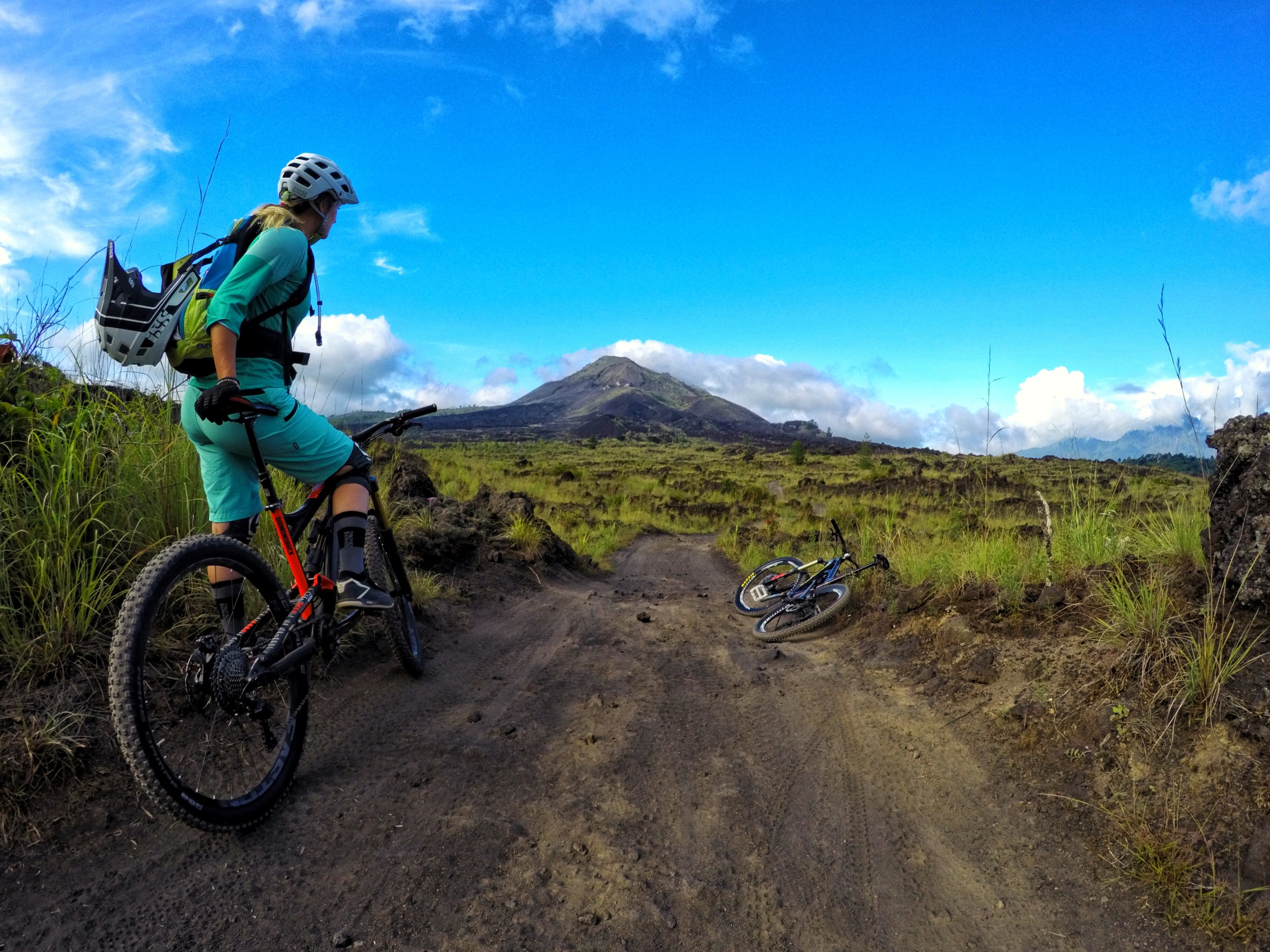 Riding on the black sand dunes at the base of the Batur volcano was so different than anything I'd ever ridden before, but just as fun.