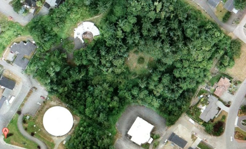 Ariel view of the Webster House