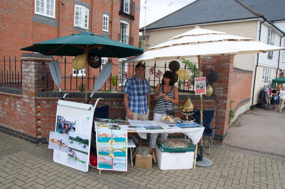 Our stand at the 2015 Wivenhoe Regatta