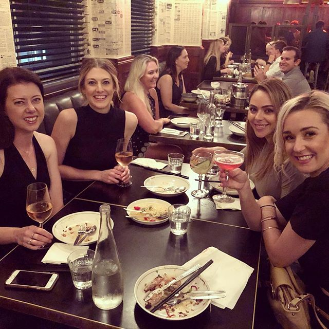Dinner with the ballet girls 💕 #somanylaughs #girlfriends #friends #theballetgirls #friendsforlife #laughedsomuchwecried #theappledaily #printhall