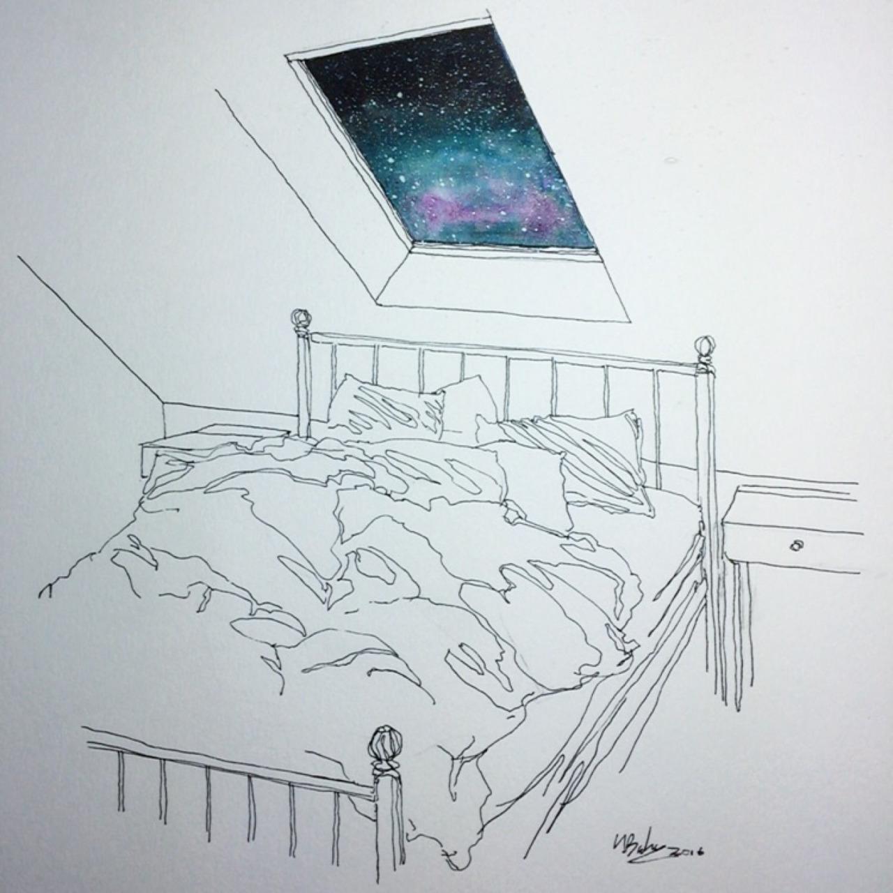 Tonight I'll Sleep Under the Stars  - by Henry Baker ( tumblr )