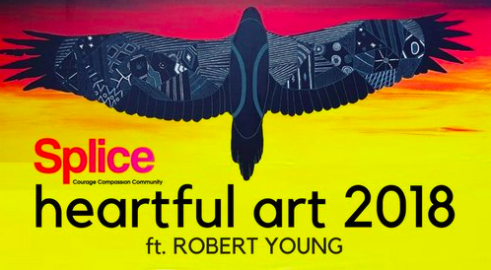 "In 2018 the featured artist for Splice Heartful Arts was Robert Young, this powerful artist makes work that celebrates his Gunnai and Waradjurie heritage. Working with a range of mediums ranging from canvas to sneaker art for Puma Young believes ""young people have grown up ashamed of where we're from, not wanting to celebrate indigenous culture and heritage. But now people from around the world are wanting to celebrate and acknowledge our culture and our identity. There's a greater awareness of celebrating people's uniqueness."" (New York Times, Sept. 6, 2017). The tour was a great success and many members of the public joined along the way for speaking events and painting workshops."