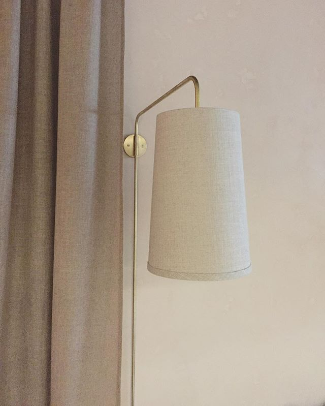 Brass wall lights for @hugos_bistro