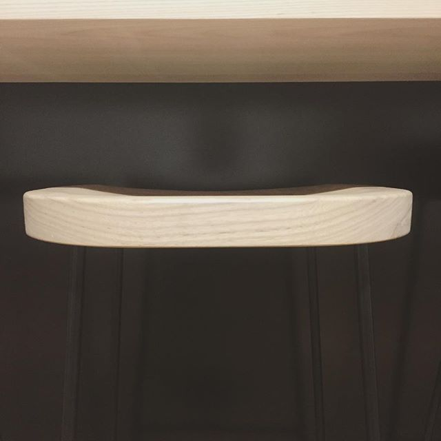 One of our stools in Matt black