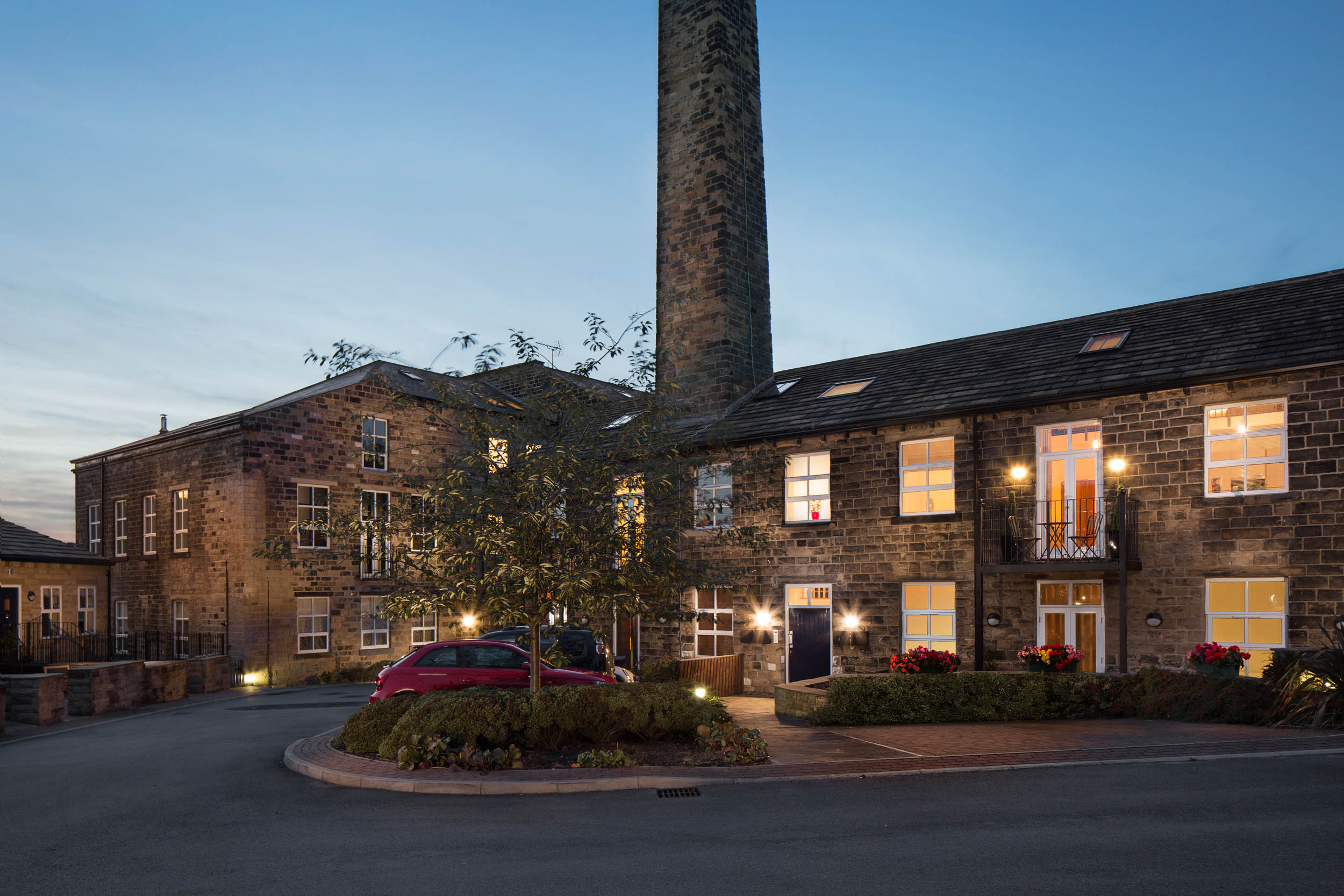 Airedale Mills, Bingley - Residential Twilight Exterior Photography