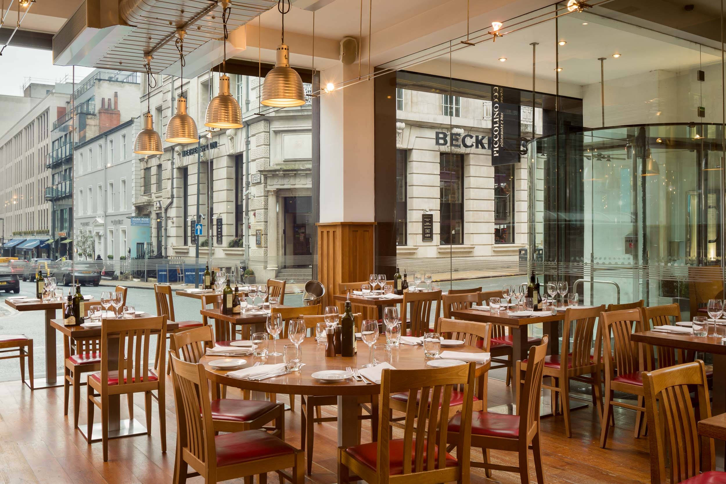 Piccolino Restaurant Bar Commercial Interior, Leeds, West Yorkshire, UK