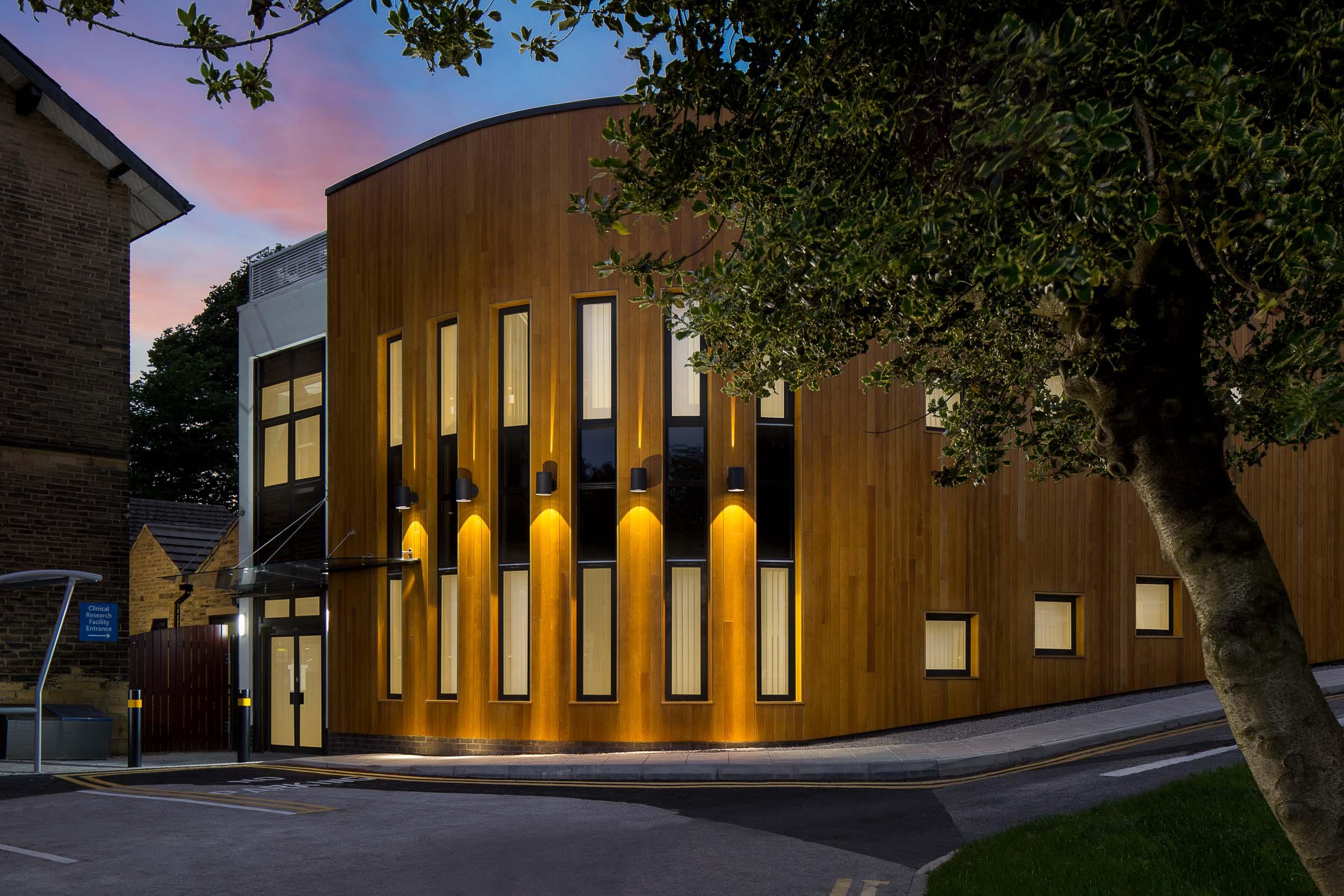 bradford royal infirmary temple bank house new building exterior twilight.jpg