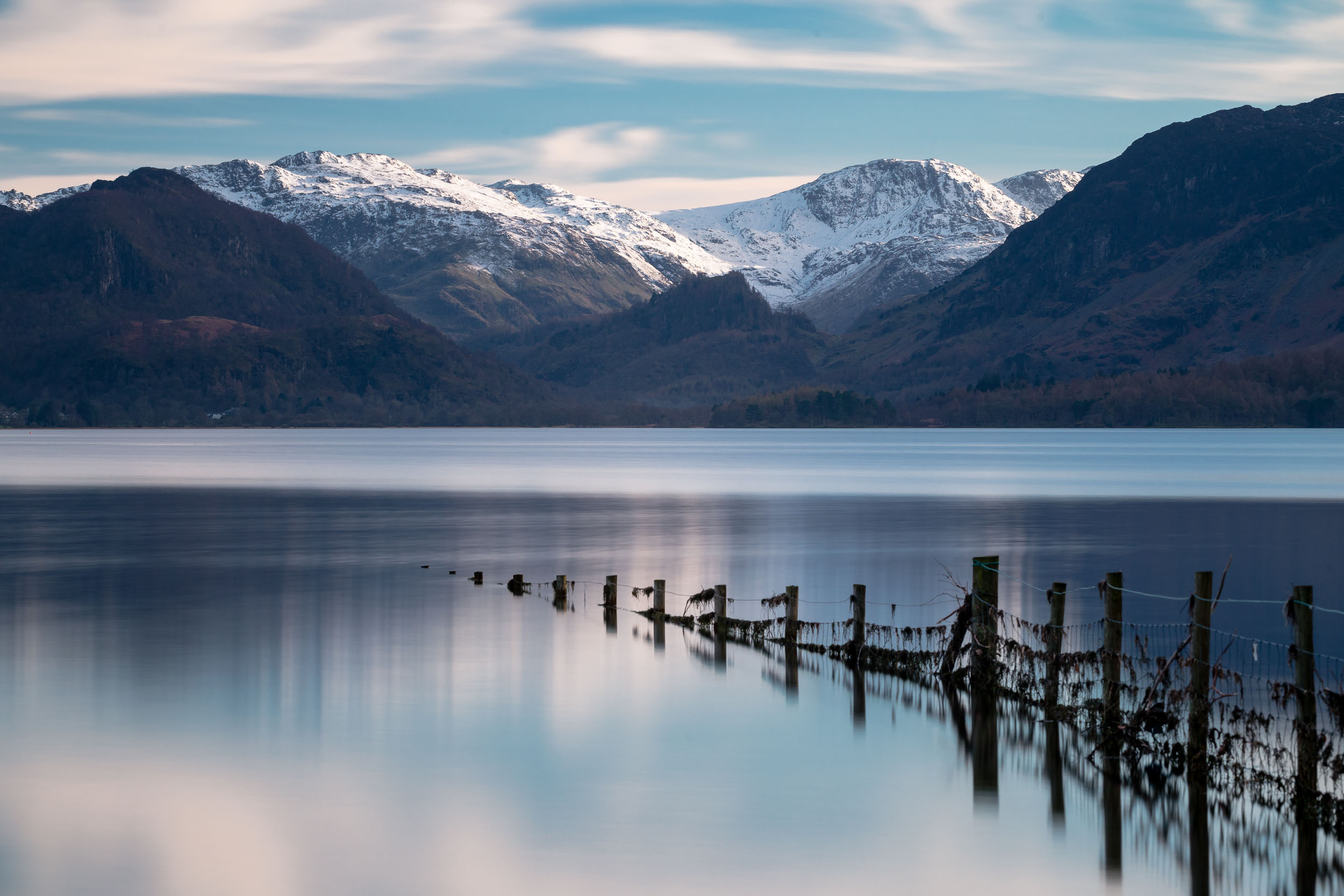 lake district keswick derwentwater sunset long exposure snow capped great end glaramara mountains landscape.jpg